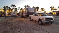 Luxury RV Resort (sand for a yard)